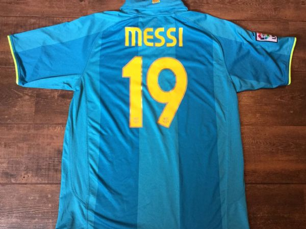 2007 2008 Barcelona Messi Away Football Shirt Top Adults Large Camp Nou